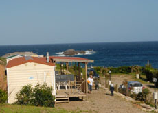 Mobile homes at the beach